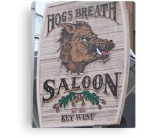 Hog's Breath Saloon-Key West Florida Canvas Print