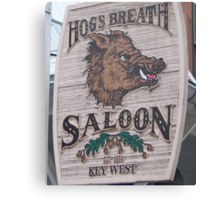 Hog's Breath Saloon-Key West Florida Canvas Print