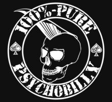 Pure Psychobilly - White Stamp One Piece - Short Sleeve