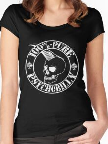 Pure Psychobilly - White Stamp Women's Fitted Scoop T-Shirt