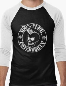 Pure Psychobilly - White Stamp Men's Baseball ¾ T-Shirt