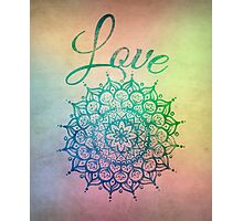 Love Mandala Photographic Print