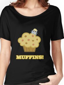Derpy (Ditzy Doo) - Muffins! - (My Little Pony Friendship is Magic) Women's Relaxed Fit T-Shirt