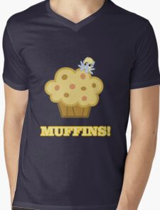 Derpy (Ditzy Doo) - Muffins! - (My Little Pony Friendship is Magic) Mens V-Neck T-Shirt