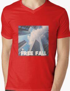 FREE FALL Mens V-Neck T-Shirt