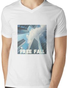 FREE FALL Mens V-Neck T-Shirt