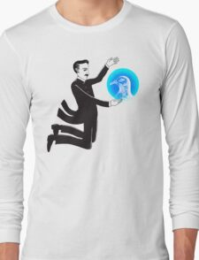 Tesla and the Pigeon Long Sleeve T-Shirt