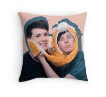 Phan pink and blue Throw Pillow
