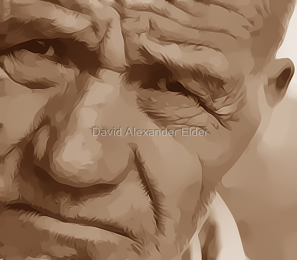 Live Every Day Digital Portrait by David Alexander Elder