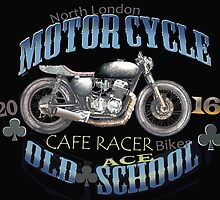 Motorcycle Cafe Racer  T Shirt by JohnLowerson