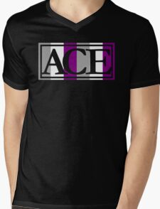 Ace Pride (Black) Mens V-Neck T-Shirt