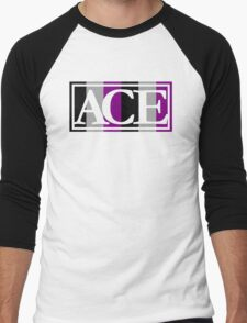 Ace Pride (White) Men's Baseball ¾ T-Shirt