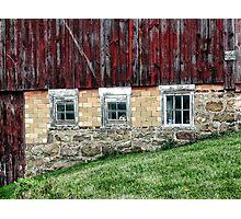 Three old windows Photographic Print