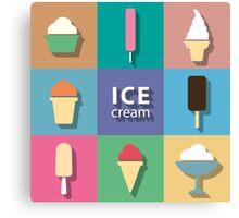 Ice-creams and popsicles Canvas Print