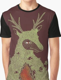 Stag at the Heart of the Mountain Graphic T-Shirt