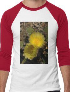 Gossamer Petals - Twin Cactus Blooms Men's Baseball ¾ T-Shirt