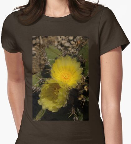 Gossamer Petals - Twin Cactus Blooms Womens Fitted T-Shirt