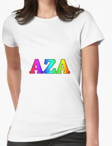 AZA Rainbow Womens Fitted T-Shirt