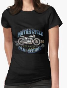 Motorcycle Cafe Racer  T Shirt Womens Fitted T-Shirt