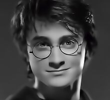 Harry Potter Digital Portrait by David Alexander Elder