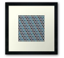 Pattern in circles Framed Print