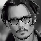 Johnny Depp Digital Portrait by David Alexander Elder
