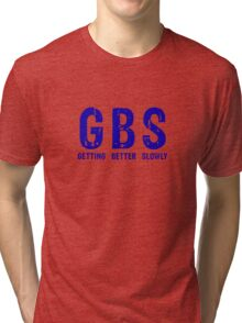 GBS T-Shirt Bright Blue Tri-blend T-Shirt