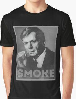 Smoke! Funny Obama Hope Parody (Smoking Man)  Graphic T-Shirt