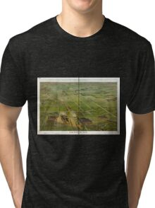 Panoramic Maps Depew NY Tri-blend T-Shirt