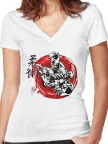 JuJitsu Women's Fitted V-Neck T-Shirt