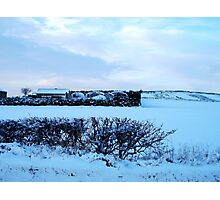 A World Bathed In Snow Photographic Print