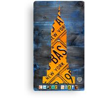 Empire State Building License Plate Art NYC USA Canvas Print