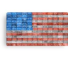 License Plate Flag of the USA United States - Michigan Plates Canvas Print