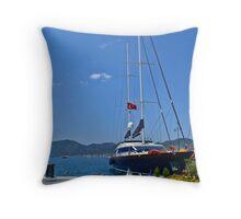 Turkey Sailboat Throw Pillow