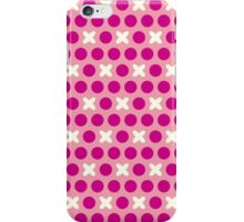 Pattern with circles and crosses iPhone Case/Skin