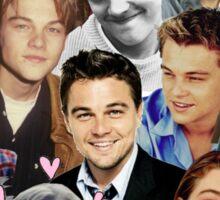 Leonardo DiCaprio Collage Sticker
