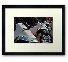 Penske Racing Scooters Framed Print