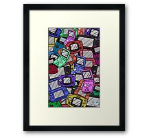 Handheld Console Pattern 02 Framed Print