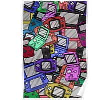 Handheld Console Pattern 02 Poster