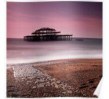 Old Brighton Pier Poster