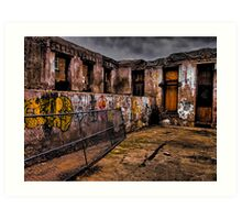 Tattooed Walls Art Print