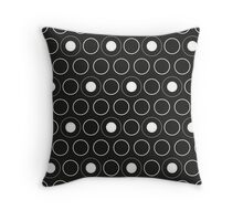 Pattern in circles Throw Pillow