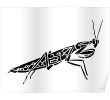 Mantis Tribal Design  Poster