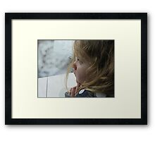 I WONDER Framed Print
