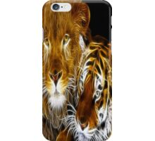 AMAZING FRACTAL LIGHT LION AND TIGER iPhone Case/Skin
