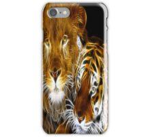 AMAZING FRACTAL LIGHT LION AND TIGER iPhone Case/Skin