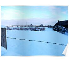 Barbed Wire Vision Of Snow! Poster