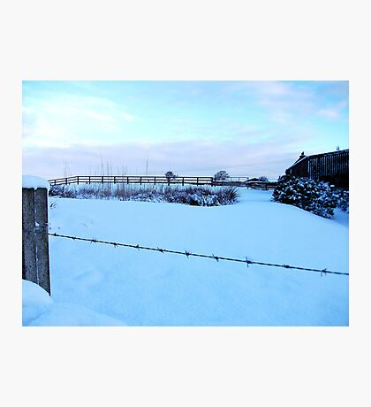 Barbed Wire Vision Of Snow! Photographic Print