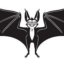 Excited Bat by blacklilypie