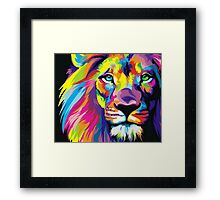Colorful Lion Framed Print